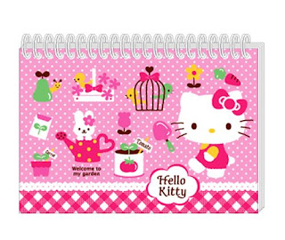 Hello Kitty garden notepad