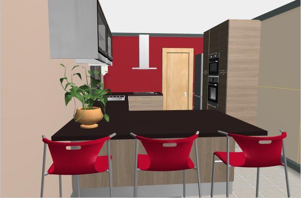 Notre construction maisons d 39 en france nord for Cuisine avec poteau au milieu