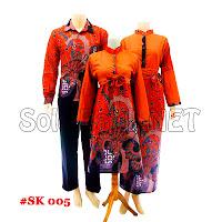 SK005 - Sarimbit Batik Gamis/Muslim Pasangan Solo 2013