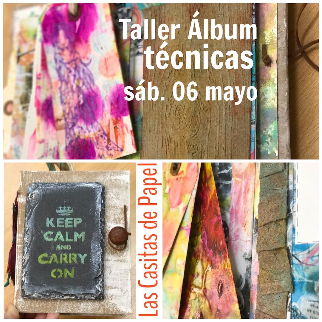 """Las Casitas de Papel:                         Taller """"Àlbum técnicas"""""""