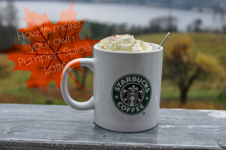 a picture of a homemade pumpkin spice latte