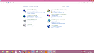 Halaman Contol Panel Windows 8
