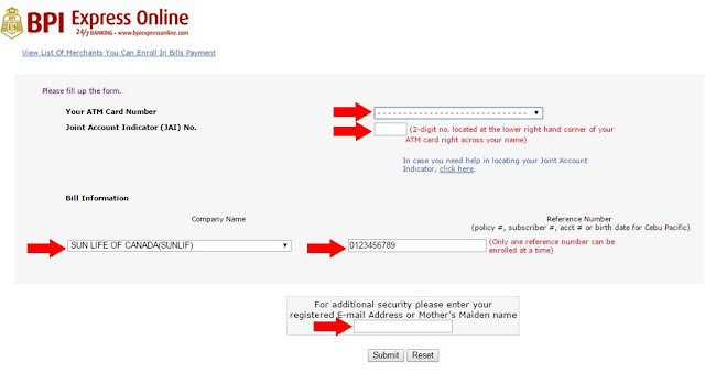 How to Pay Sunlife Insurance Using BPI Express Online ...