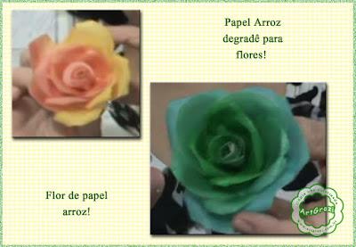 Flores com papel arroz