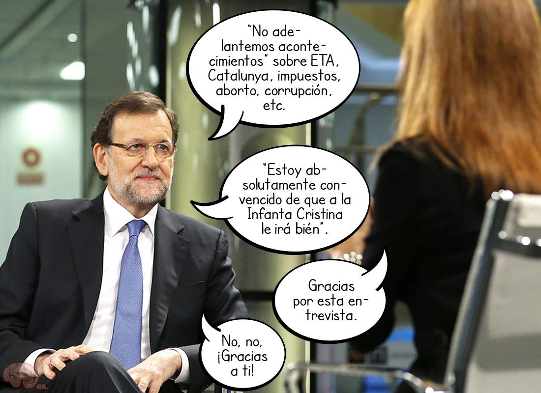 Rajoy, en la Gloria