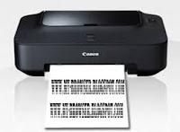 bergaris Cara Memperbaiki Hasil Cetak Bergaris/Putus Putus Pada Printer Canon IP dan MP