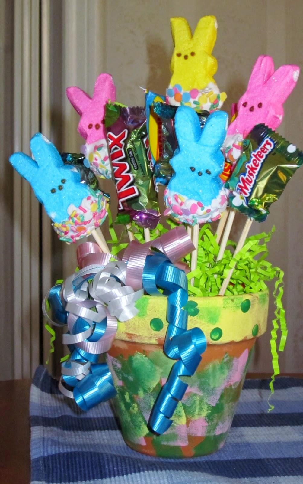 Ms Nancys Nook Peeps Bunnies Candy Bouquet Arrangement