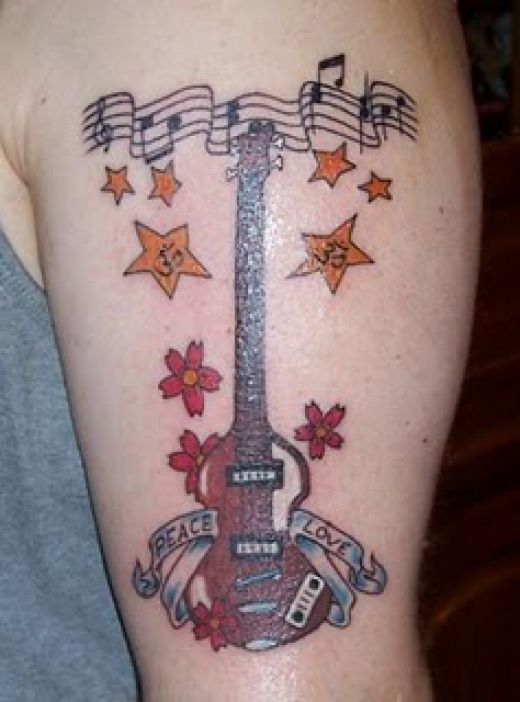 musical notes tattoos. enjoys the music note