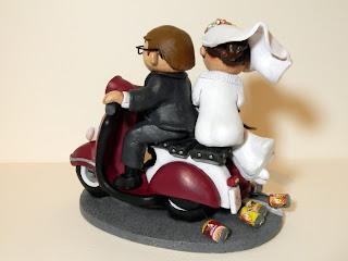 orme magiche cake topper cartoon scultura torta nuziale decorazione sposini sposi fatte a mano scolpite modellini