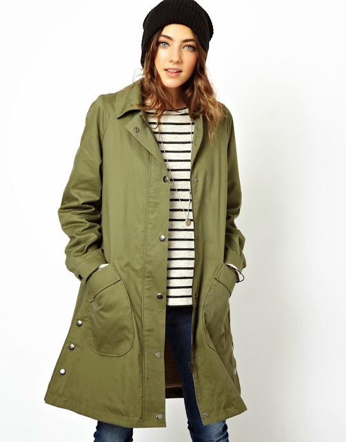 khaki mac, khaki coat
