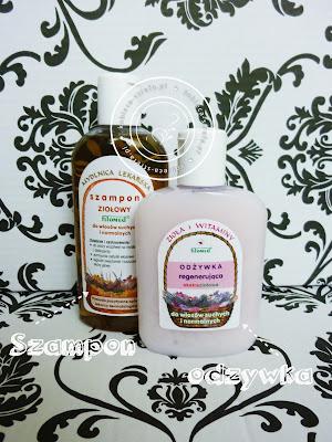 """Fitomed - szampon ziołowy do włosów suchych i normalnych """"Mydlnica lekarska"""" - odżywka ekstraziołowa do włosów suchych i normalnych """"Zioła i witaminy"""""""