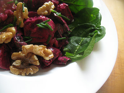 Roasted Beetroot with Toasted Walnuts and Yogurt