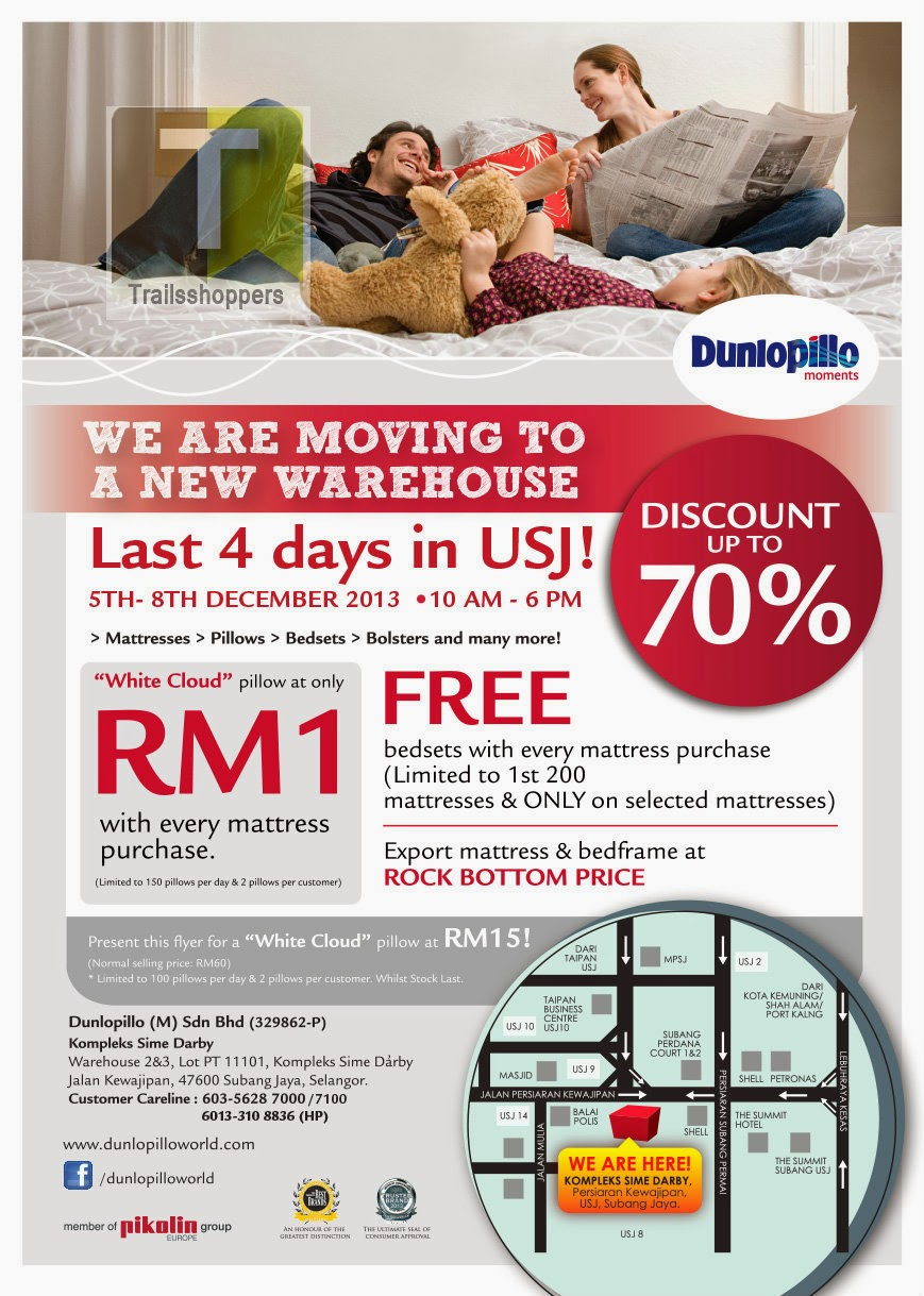 Dunlopillo Warehouse Sale 2013