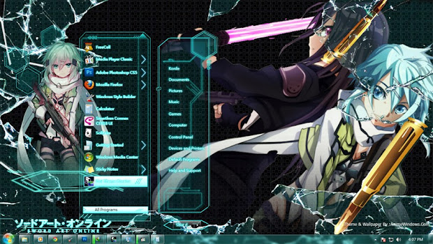 anime themes for pc computer Sword Art Online Gun Gale Online