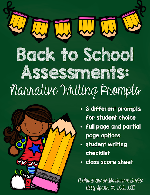https://www.teacherspayteachers.com/Product/Back-to-School-Assessments-Narrative-Writing-Prompts-317171