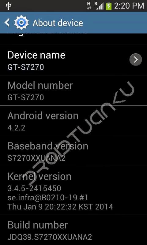 Mengaktifkan USB Debugging Samsung Galaxy Ace 3