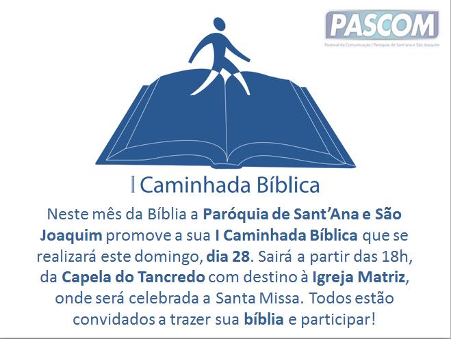I CAMINHADA BÍBLICA