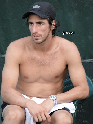 Pablo Cuevas Shirtless at Sony Ericsson Open 2011