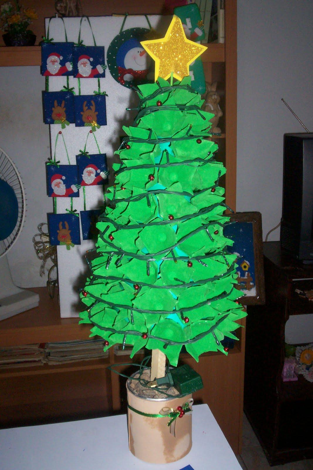 Norelkys algunas ideas diciembre 2011 for Arbol de navidad con cajas de carton