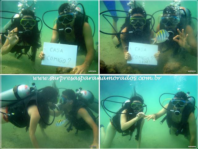 pedido de casamento debaixo da água