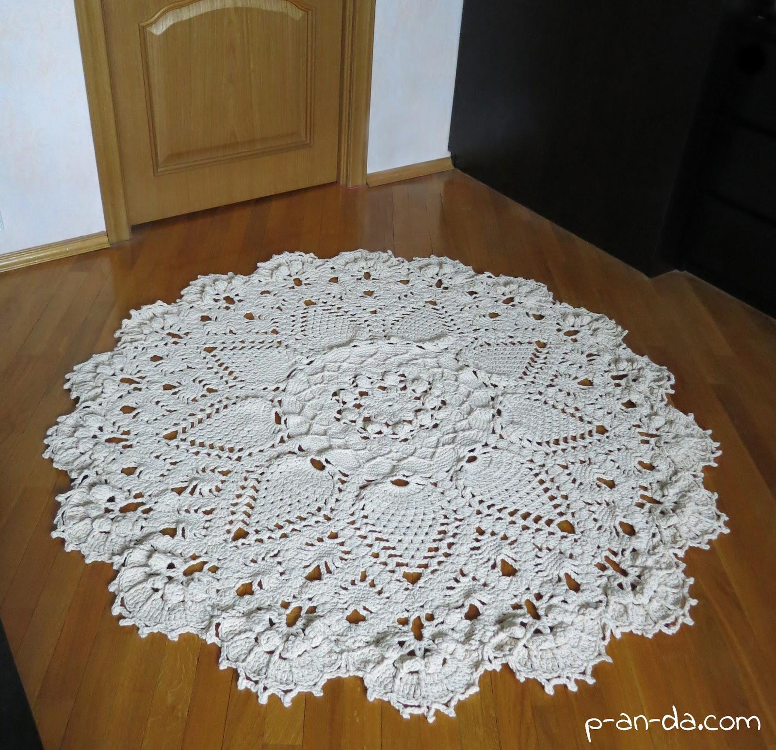 схема вязания ковров крючком