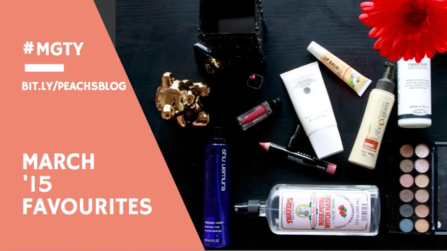 @peachsbeauty March '15 Favourites - bit.ly/peachsblog | #mgty | #peachsbeauty