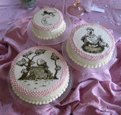 Hand Painted Nursery Rhyme Baby Shower Cake 2