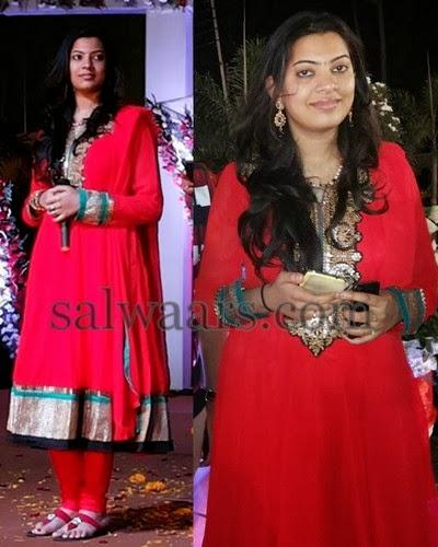 Geeta Madhuri Red Salwar