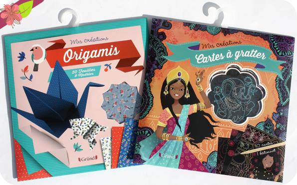 """Pochettes : """"Cartes à gratter - princesses du monde"""" et """"Origamis"""" - Gründ jeunesse"""