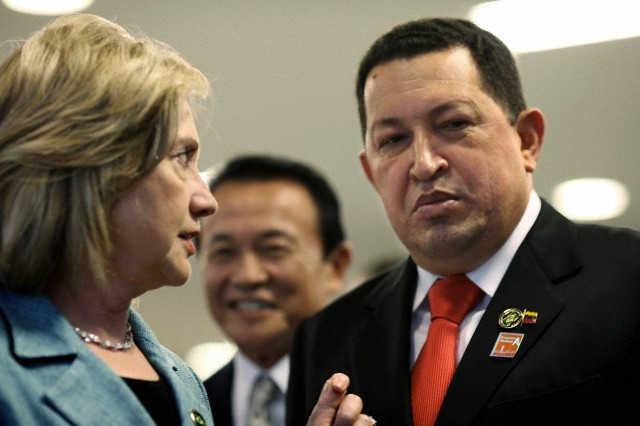 hugo chavez hilary clinton america