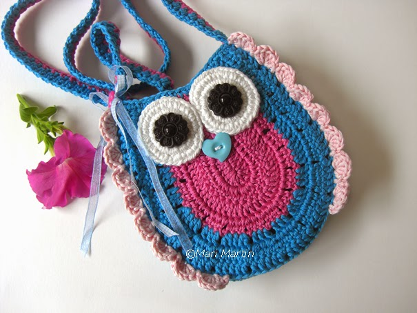 Crochet Colorful Owl Purse Bag Girls Pattern