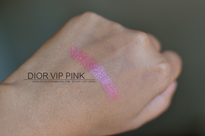 Dior Backstage Makeup Set - Stylish Move Eyeshadow Palette VIP Pink Lipstick Photos Swatches Beauty Blog Review