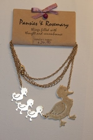Mother Duck & Brood (charmed Necklace)