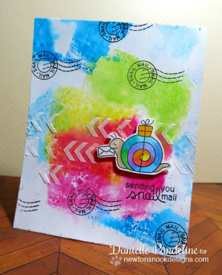 Tie Dye Snail Mail Card by Danielle Pandeline | In Slow Motion Stamp set by Newton's Nook Designs