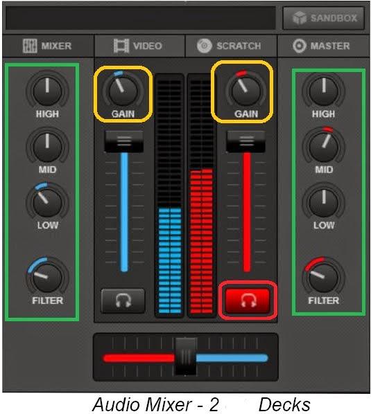 mengenal bagian audio mixer virtualdj 8
