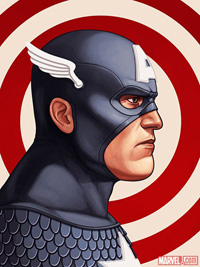 Mondo Captain America Print by Mike Mitchell