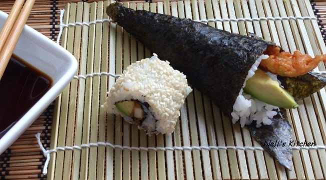 Simple Calamari and Chicken Sushi