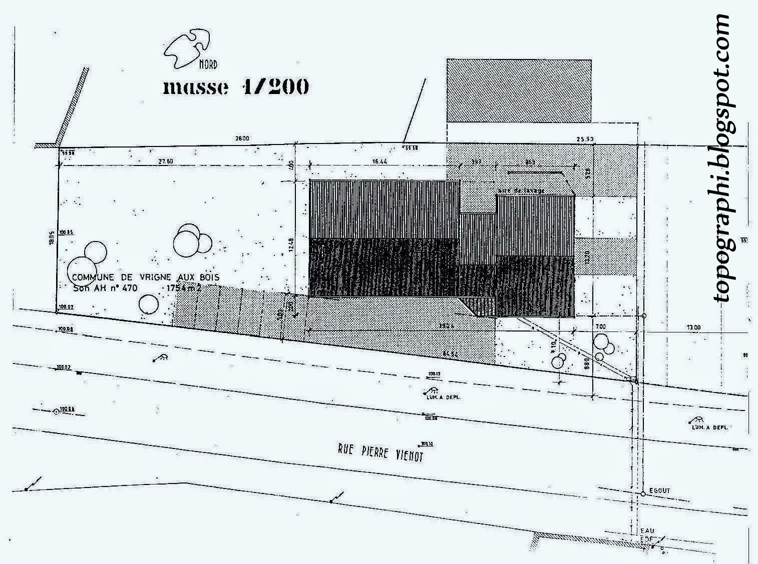 topographie plan de masse. Black Bedroom Furniture Sets. Home Design Ideas