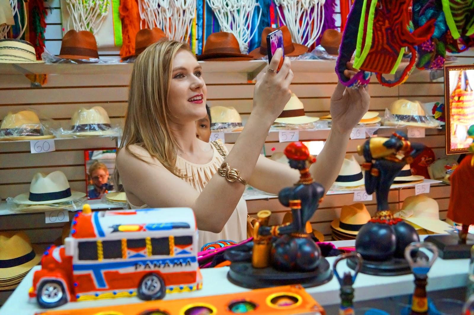 Gorgeous merchandise at a Panamanian tourist shop