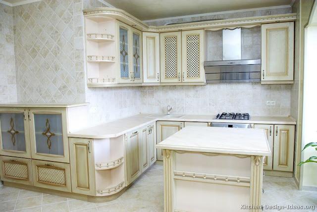 Armoires de cuisine blanc antique for Armoire de cuisine antique