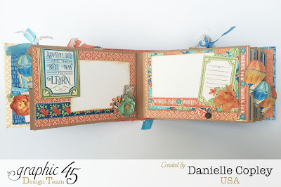 inspirational, fun, bright Mini Album using World's Fair by Graphic 45 available at ScrapbookMaven.com