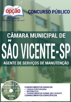 Apostila Concurso Câmara Municipal de São Vicente - SP - Agente de Serviços de Manutenção - 2016