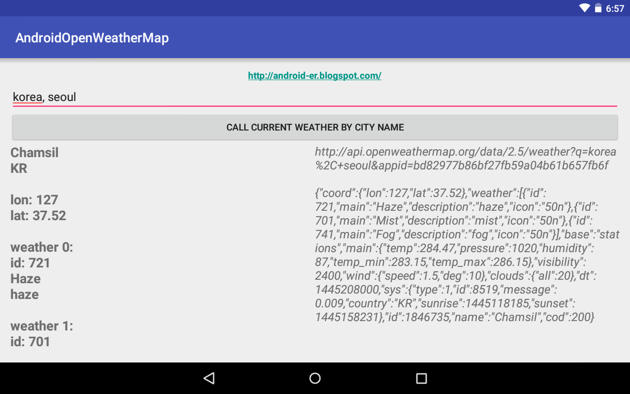 Android Er Android Query Current Weather Using Openweathermap S