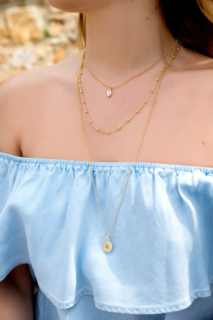 Collar tripe dorado A trendy life by Eguzkilore