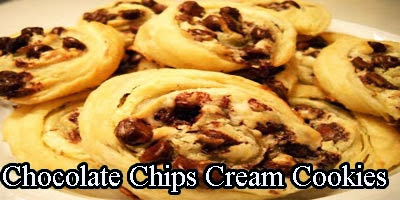 Chocolate Chips Cream Cookies