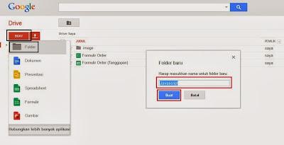 Membuat Folder Baru di Google Drive