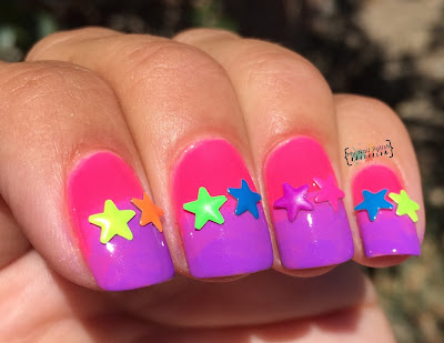 Lady Queen 5mm Multi Colored 3D Star Studs