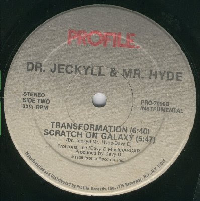 Dr. Jeckyll & Mr. Hyde – Transformation / Scratch On Galaxy (1986, VLS, 256)