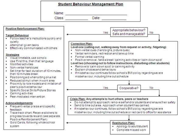 classroom behaviour management essay