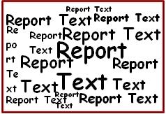 Struktur Report Teks :